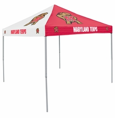 Maryland Terrapins Red / Black Checkerboard Logo Canopy Tailgate Tent