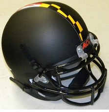 Maryland Terrapins Black Schutt Authentic Mini Helmet