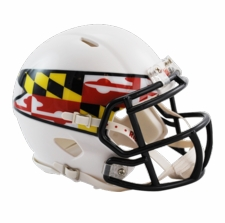 Maryland Terrapins White w/ Flag Riddell Speed Mini Helmet