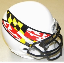 Maryland Terrapins White w/ Flag Schutt Authentic Mini Helmet