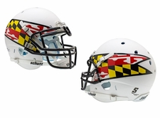 Maryland Terrapins White w/ Flag Schutt XP Authentic Helmet