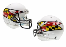 Maryland Terrapins White w/ Flag Schutt XP Full Size Replica Helmet