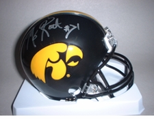 Matt Roth Autographed Iowa Hawkeyes Mini Helmet