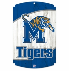 Memphis Tigers Wood Sign