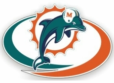 Miami Dolphins 12 x 12 Die-Cut Window Film Decal