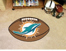 "Miami Dolphins 22""x35"" Football Floor Mat"