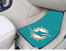 Miami Dolphins Car Mats 2 Piece Front Set