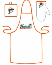 Miami Dolphins Cooking / Grilling Apron Set