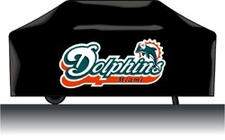 Miami Dolphins Deluxe Barbeque Grill Cover