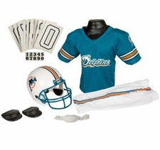 Miami Dolphins Deluxe Youth / Kids Football Uniform Set