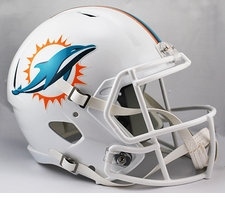 Miami Dolphins Full-Size Deluxe Replica Speed Helmet