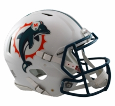 Miami Dolphins 1997-2012 Revolution Speed Riddell Authentic Helmet