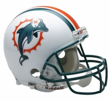 Miami Dolphins 1997-2012 Riddell Full Size Authentic Helmet