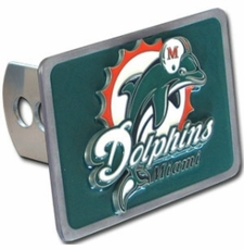 Miami Dolphins Trailer Hitch Cover