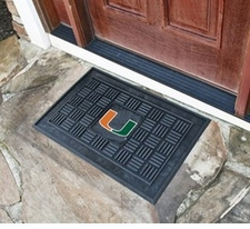 Miami Hurricanes 19x30 Medallion Door Mat