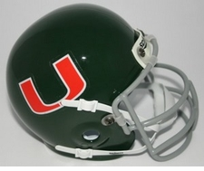 Miami Hurricanes 1972 Schutt Throwback Mini Helmet