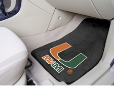 Miami Hurricanes 2-Piece Carpeted Car Mats Front Set