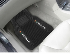Miami Hurricanes 2-Piece Deluxe Car Mats