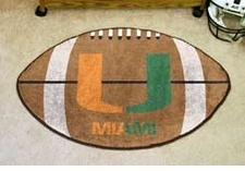 "Miami Hurricanes 22""x35"" Logo Football Floor Mat"
