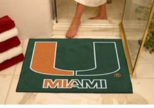 "Miami Hurricanes 34""x45"" Logo All-Star Floor Mat"