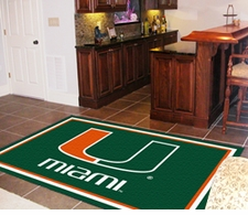 Miami Hurricanes 4'x6' Floor Rug