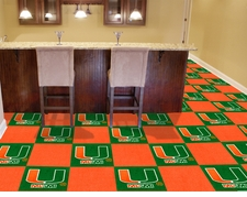 Miami Hurricanes Carpet Tiles - 20 18x18 Square Tiles