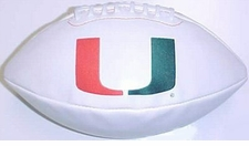 Miami Hurricanes Full Size Signature Embroidered Football
