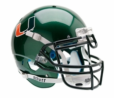 Miami Hurricanes Green Schutt XP Authentic Helmet