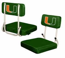 Miami Hurricanes Hard Back Stadium Seat