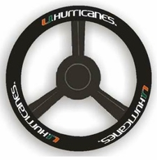 Miami Hurricanes Leather Steering Wheel Cover