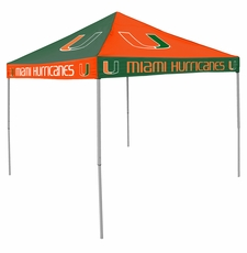 Miami Hurricanes Orange / Green Checkerboard Logo Canopy Tailgate Tent