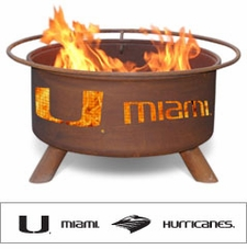 Miami Hurricanes Outdoor Fire Pit