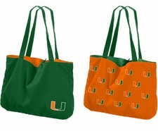 Miami Hurricanes Reversible Tote Bag