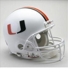 Miami Hurricanes Riddell Pro Line Authentic Helmet