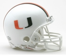 Miami Hurricanes Riddell Replica Mini Helmet