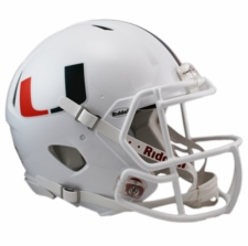 Miami Hurricanes Riddell Revolution Speed Authentic Helmet