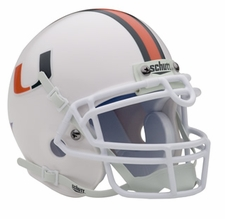 Miami Hurricanes White Schutt Authentic Mini Helmet