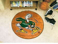 "Miami Hurricanes Sebastian 27"" Basketball Floor Mat"