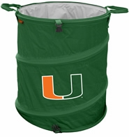 Miami Hurricanes Tailgate Trash Can / Cooler / Laundry Hamper