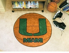 "Miami Hurricanes ""U"" 27"" Basketball Floor Mat"