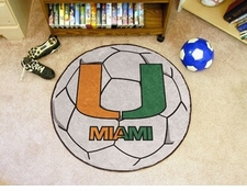 "Miami Hurricanes ""U"" 27"" Soccer Ball Floor Mat"