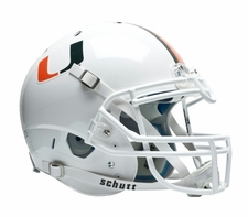 Miami Hurricanes White Schutt XP Authentic Helmet