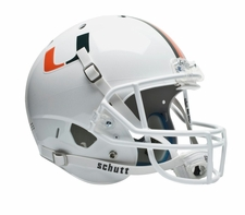 Miami Hurricanes White Schutt XP Full Size Replica Helmet