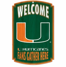 Miami Hurricanes Wood Sign