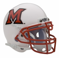 Miami of Ohio RedHawks Schutt Authentic Mini Helmet