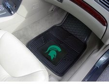Michigan State Spartans 2-Piece Heavy Duty Vinyl Car Mat Set