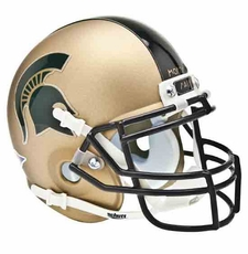 Michigan State Spartans 2011 Pro Combat Schutt Authentic Mini Helmet