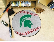 "Michigan State Spartans 27"" Baseball Floor Mat"