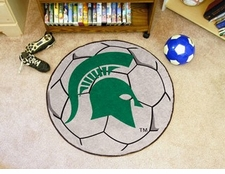 "Michigan State Spartans 27"" Soccer Ball Floor Mat"