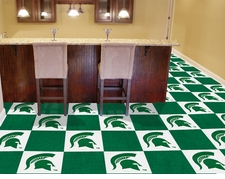 Michigan State Spartans Carpet Tiles - 20 18x18 Square Tiles